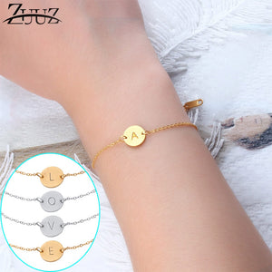 Stainless Steel Letter bracelets&bangles For Women Wholesale bracelet dropshipping Chain Link accessories couple gold silver