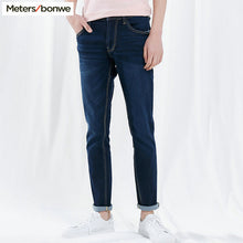 Load image into Gallery viewer, Metersbonwe Straight Jeans Men 2019 Spring Autumn New Casual Youth Trend Slim Jeans Mens  Pants Men Trousers