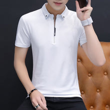 Load image into Gallery viewer, Belbello New Style Fashion youth woman Customized Shirt Men's Short Sleeves T-shirt Lapel Men's Sports Pure Color Short Sleeves