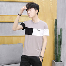 Load image into Gallery viewer, Belbello New Fashion Menswear T-shirt Summer Round-collar youth woman Customized Shirts Men Cut Sleeve stripe Short sleeve