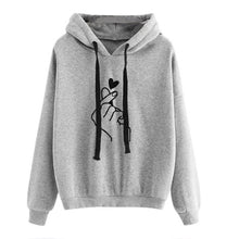 Load image into Gallery viewer, Oversize Heart Print Hooded Pullover Long Sleeve Solid Color Hooded Sweatshirt Oversized Hoodie Casual Loose Cotton Hoodies