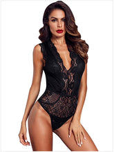 Load image into Gallery viewer, Ellolace Neon Lace Elegant Bodysuit Women Deep V Female Body Mesh Sleeveless Transparent Sexy Bodycon Summer White Bodysuits
