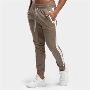Casual Sporty Pants Joggers Sweatpants Mens Gyms Fitness Workout Sportswear Trousers Autumn Male Cotton Trackpants Pencil pants