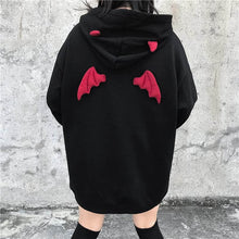 Load image into Gallery viewer, NiceMix Fall Winter Women Sweatshirts High Street Harajuku Cute Hoodies  Punk Gothic Devil Horn Chic Hooded Pullover Loose Sweat