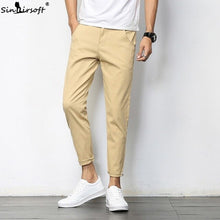 Load image into Gallery viewer, 2019 Men Fashion Cotton Slim Pencil Mens Khaki Man Casual Pants Long Haren Trousers Male Solid Pantalon Homme Pantalones Hombre