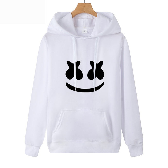 2019 Autumn AliExpress New Style Hot Sales Marshmello Face Hoodie Casual Thin Men's Sweatshirts & Hoodies