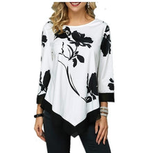 Load image into Gallery viewer, Shirt Women Spring Autumn  O-neck Blouse 3/4 Sleeve Casual Printing Button Female fashion shirt Tops Plus Size StreetShirt