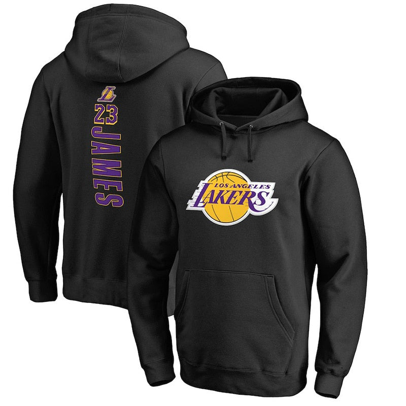 NBA Hoodie Lakers Winter Hooded Pullover Hoody Students Autumn And Winter Training Suit 18-24-Year-Old Wearable