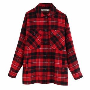 Autumn long sleeve blouse boho clothing women plaid shirt korean blouse plaid shirt women 2019 streetwear coats female