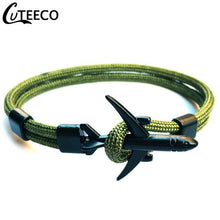 Load image into Gallery viewer, CUTEECO High Quality Bracelets For Men Paracord Anchor Bracelets Stainless Steel Pulseira Masculina Feminina Jewelry Male Wrap