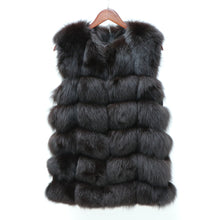 Load image into Gallery viewer, Women Warm Real Fox Fur Coat long  Winter Genuine Fur Jacket Fashion Outwear Luxury Natural Fox Fur Coat For Girls queentina