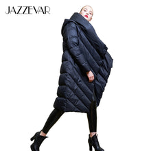 Load image into Gallery viewer, JAZZEVAR 2019 Winter new Designer Brand women long hooded down jacket casual female worm duvet down coat outerwear z18003