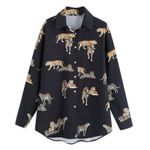 Load image into Gallery viewer, Animal Prints Shirt Women Autumn 2019 New Fashion Long Sleeve Blouse Female Loose Shirts