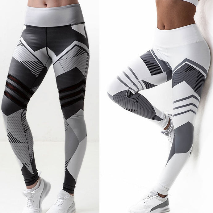 Fashion Print Leggings Women Casual Fitness High Waist Elastic Legging Female Sexy Slim Bottoming Pants Plus Size Soft Trousers