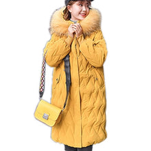 Load image into Gallery viewer, Casual Long Down Jackets Women Winter Vogue Warm Fur Hooded Down Coat Ladies Solid Pocket Zipper Female Jacket Parka Coat Korean
