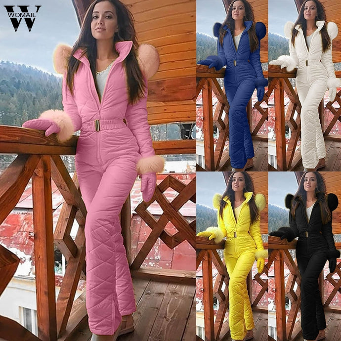 Womail Jumpsuit Women fashion Ski Jumpsuit Breathable Snowboard Jacket Skiing Pant Set Bodysuit Outdoor Snow Winter warm Cloth