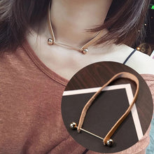 Load image into Gallery viewer, BYSPT Shiny Crystal Circle Silver Color Women's Pendant Necklaces Jewelry Pendant Long Necklace Women Chain Fashion Jewelry