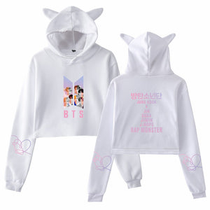 Hot Search AliExpress Fashion-BTS Bulletproof Boys Compilations Related Products Cat Ear WOMEN'S Hoodie Sweater