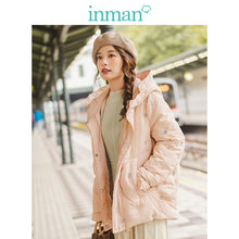 Load image into Gallery viewer, INMAN 2019 Autumn Winter New Arrival Casual Hooded Contrast Embroidery Fashion Warm Women Short Down Coat