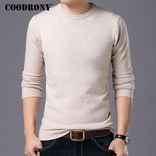 Load image into Gallery viewer, COODRONY Sweater Men Autumn Winter Warm Mens Knitted Wool Sweaters Solid Color Casual O-Neck Pull Homme Cotton Pullover Men 7209