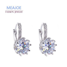 Load image into Gallery viewer, Meajoe Trendy Silver Plate 6 Color Charm Stud Earring Round Cubic Zircon Metal Vintage Earrings Jewelry For Women Friend Gift