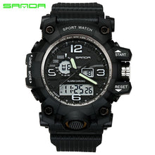 Load image into Gallery viewer, SANDA top luxury brand G style men's military sports watch LED digital watch waterproof men's watch Relogio Masculino