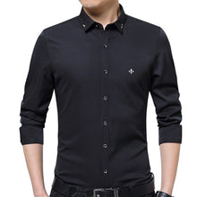 Load image into Gallery viewer, DUDALINA Embroidery Men Clothes Solid Slim Fit Men Long Sleeve Shirt Casual Men Social Shirt Plus Size Anti-wrinkle-free E51701