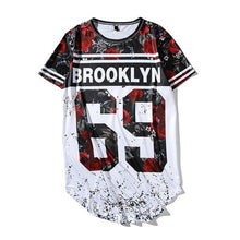 Load image into Gallery viewer, Summer Fashion Men Women T Shirts Digital Rose 23 Printed Short Sleeve Trend Casual Hip Hop Loose Tee Shirt Baseball Jersey