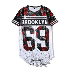 Summer Fashion Men Women T Shirts Digital Rose 23 Printed Short Sleeve Trend Casual Hip Hop Loose Tee Shirt Baseball Jersey