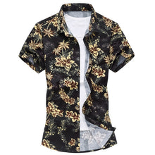 Load image into Gallery viewer, Summer Mens Short Sleeve Beach Hawaiian Shirts Casual Flower Floral Shirts Plus Size 6XL 2018 New Mens Clothing Fashion