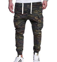 Load image into Gallery viewer, Loldeal Mens Twill  Chinos Pants Harem Stretch Slim Fit  Camouflage Printed Tie Belt Casual Pants