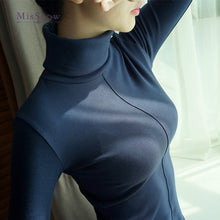 Load image into Gallery viewer, Sweater Female Soft Korean Style Skinny Winter Turtleneck Women Bodycon Basic Pullovers Long Sleeve Pull Femme Coat Female Top