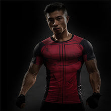 Load image into Gallery viewer, 2017 Captain America 3 T-shirt men long sleeve 3d tights t shirts avengers alliance civil war compression fitness summer t-shirt