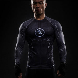 2017 Captain America 3 T-shirt men long sleeve 3d tights t shirts avengers alliance civil war compression fitness summer t-shirt