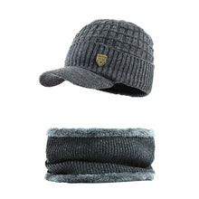 Load image into Gallery viewer, [FLB] Skullies Beanies Men Scarf Knitted Hat Cap Male Plus Gorras Bonnet Warm Wool Thick Winter Hats For Men Women Beanie F18041