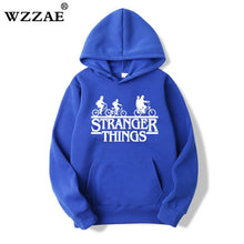 Load image into Gallery viewer, 2018 Trendy Faces Stranger Things Hooded Mens Hoodies and Sweatshirts Oversized for Autumn with Hip Hop Winter Hoodies Men Brand