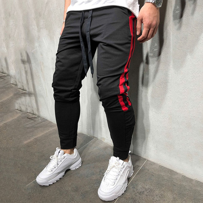 Men Track Pants 2018 NEW Fashion Hip Hop Fitness Streetwear Trousers Striped Drawstring Joggers Sweatpants Pantalon Homme