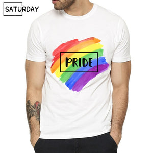 Pride Lgbt Gay Love Lesbian Rainbow Design Print T-shirts for Man and Women Summer Casual Love is Love Tee Shirt Unisex Clothes