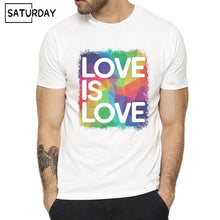 Load image into Gallery viewer, Pride Lgbt Gay Love Lesbian Rainbow Design Print T-shirts for Man and Women Summer Casual Love is Love Tee Shirt Unisex Clothes