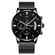 Load image into Gallery viewer, NIBOSI Men Watch Chronograph Sport Mens Watches Top Brand Luxury Waterproof Full Steel Quartz Gold Clock Men Relogio Masculino