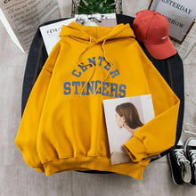 Load image into Gallery viewer, Hoodies Women Large Size Leisure Letter Printed Long Sleeve Hooded Womens Pullover Soft Cotton Korean Style Ladies Sweatshirts