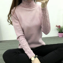 Load image into Gallery viewer, Women Turtleneck Winter Sweater Women 2019 Long Sleeve Knitted Women Sweaters And Pullovers Female Jumper Tricot Tops LY571