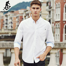 Load image into Gallery viewer, Pioneer Camp casual shirt men brand clothing 2019 new long sleeve slim fit solid male shirt top quality 100% cotton white 666211