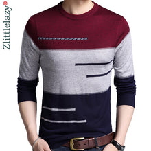 Load image into Gallery viewer, 2019 brand male pullover sweater men knitted jersey striped sweaters mens knitwear clothes sueter hombre camisa masculina 100