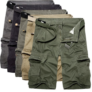 2019 Mens Military Cargo Shorts Summer army green Cotton Shorts men Loose Multi-Pocket Shorts Homme Casual Bermuda Trousers 40