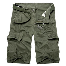 Load image into Gallery viewer, 2019 Mens Military Cargo Shorts Summer army green Cotton Shorts men Loose Multi-Pocket Shorts Homme Casual Bermuda Trousers 40