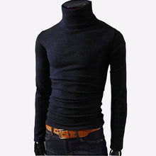 Load image into Gallery viewer, 2019 New Autumn Mens Sweaters Casual Male turtleneck Man's Black Solid Knitwear Slim Fit Brand Clothing Sweater