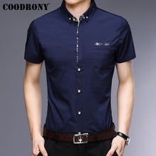 Load image into Gallery viewer, COODRONY Short Sleeve Men Shirt With Pocket 2019 Summer Cool Shirt Men Brand Clothes Business Casual Shirts Chemise Homme S96035