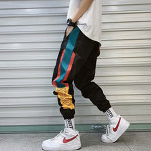 Load image into Gallery viewer, Hip Hop Streetwear Men's Splice Joggers Pants Fashion Men Casual Cargo Pant Trousers High Street Elastic Waist Harem Pant Men