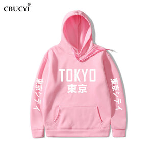 2019 New Arrival Japan Harajuku Hoodies Tokyo City Printing Pullover Sweatshirt   Hip Hop Streetwear Men/Women Hooded Sweatshir